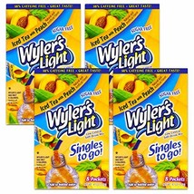Wyler's ICED TEA with PEACH Singles to Go (4 Boxes) 8 Drink Packets Per Box - $16.32