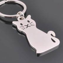 Cute cat Fashion Cat Keychain Keyring Ring Women's Men's Jewelry Kitty c... - $4.99