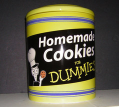 Homemade Cookies For Dummies Cookie Jar canister - $8.91