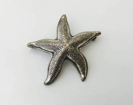 STARFISH Vintage Brooch Pin in Sterling Silver - BEAU STERLING - 1.5 inc... - $45.00