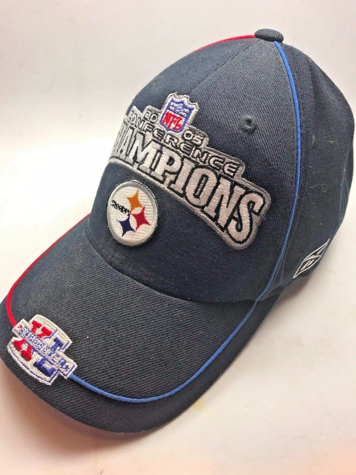 S l1600. S l1600. Reebok 2005 NFL Pittsburgh Steelers 2005 Conference  Champions Baseball Hat ... 93d4439e9