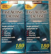360 NEW! Kirkland Signature™ Fast Acting Lactase Enzyme Lactaid 2 x 180 ... - $43.93