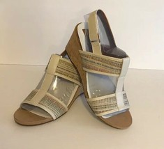 Easy Spirit Womens 25023979 Off White/Multi Colored Synthetic Sandals Sz:9.5 NEW - $47.00