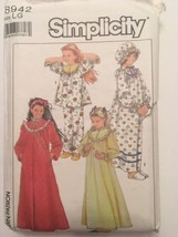 Vintage Simplicity 8942 Little Girls Nightgown Pajamas Robe Hat Uncut Sz... - $7.99