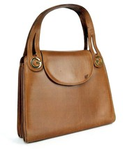 Auth Gucci GG Beige Canvas & Brown Leather Small Tote Shoulder Hand Bag ... - $167.31