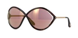 Tom Ford Sunglasses Liora FT0528 52Z 70-5-120 Dark Havana /Purple Mirrored - $168.28
