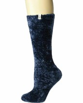 UGG Leda Cozy Navy Women's Crew Fuzzy Socks 1105572 - $16.95