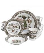 Gibson Home Christmas Toile 16 Piece Dinnerware Set - $67.99