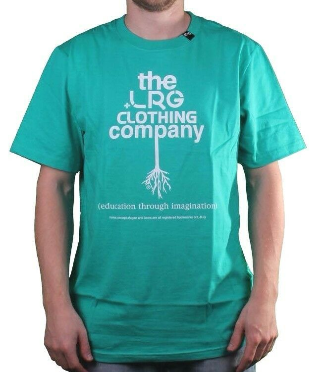 LRG Lifted Research Men's Aqua Green The Rooted T-Shirt Medium NWT