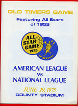 1975 Brewers Old Timers Game AL Vs NL All Stars 1955 County Stadium Aaro... - $24.74