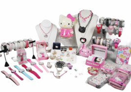 Large Sanrio Hello Kitty Assorted Jewelry Accessories Lot Watch Necklace Bank image 1