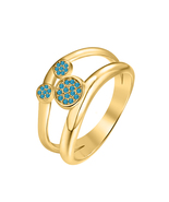 0.30ct Round London Blue Topaz 14k Yellow Gold Over.925 Silver Mickey Mo... - $69.35