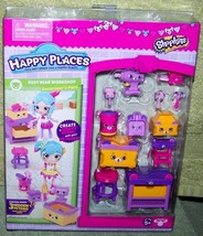 Shopkins Happy Places Shopkins Busy Bear Workshop Decorator's Pack New - $15.88