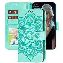 XYX LG Stylo 5 Wallet Case,LG Stylo 5 Case,[Embossed Mandala Flower] PU ... - $9.76
