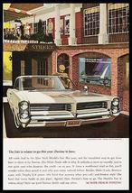 NYWF Pontiac Bonneville 1964 Print Ad New York World's Fair - $12.99