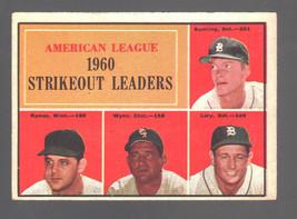 1961 Topps #50 AL Strikeout Ldrs (Bunning/Ramos/Wynn/Lary) BLANK Back! - $20.30