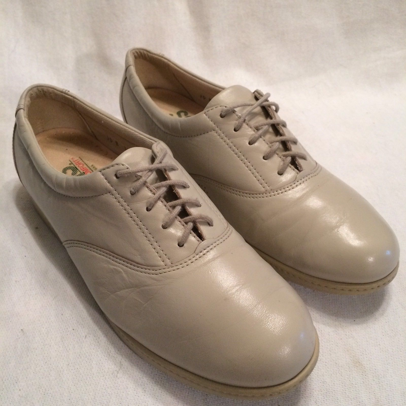 SAS Tripad Comfort Free Time Walking Oxfords Leather USA Brown Women's Size 7.5M