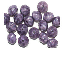 Purple Shiny Cushion Czech Pressed Glass Beads 8mm (pack of 18) - $6.47