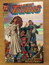 New Titans #100 1993 DC Comic Book NM Condition 1st Print Holo Foil Cover - $2.69