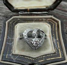 2.00Ct Heart Shape White Diamond 925 Sterling Silver Bridal Engagement Ring - $124.00