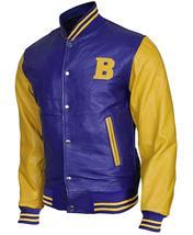Teen Wolf Varsity Scott Howard Letterman Michael Fox Bomber Leather Jacket image 3