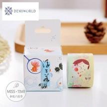 JA302 3cm Wide Japanese Style Pattern Washi Tape Adhesive Tape DIY Scrap... - $5.15