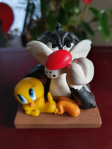 Extremely Rare! Looney Tunes Sylvester and Tweety Small Figurine Bust St... - $148.50