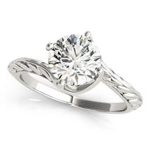 14k White Gold Bypass Round Solitaire Diamond Engagement Ring (1 cttw) - $5,301.93