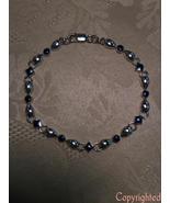 Petite Vintage Lapis Lazuli Link Bracelet 925 S... - $74.00