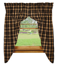 country farmhouse cabin lodge red green black tan TARTAN plaid PRAIRIE C... - $62.95