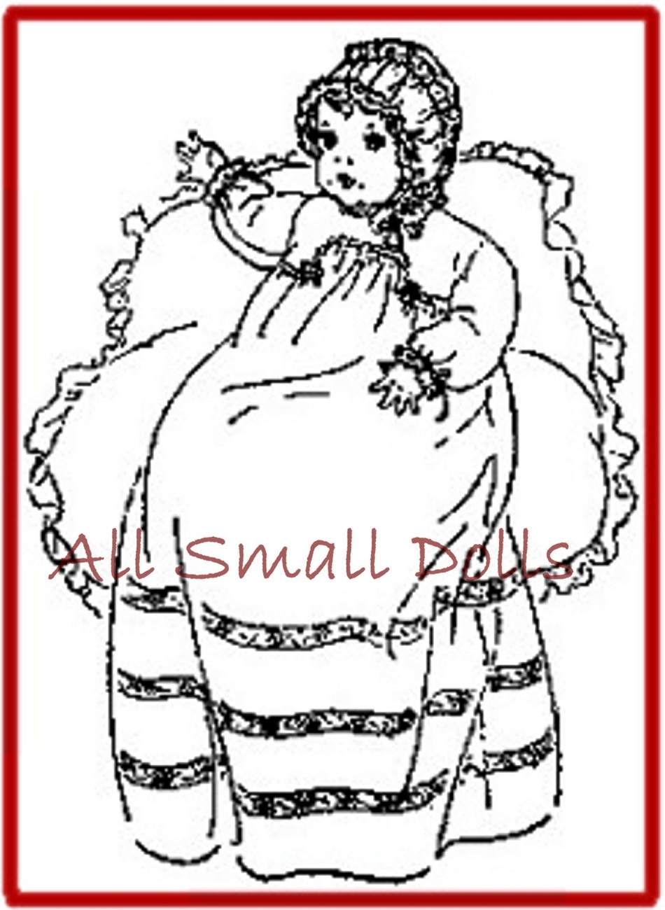"Vintage Doll Clothing Pattern for 10"" Baby Dolls"