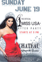 The Official Miss USA After Party @ CHATEAU Las Vegas Promo Card - $2.95