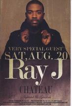 Ray J @ Chateau Las Vegas Promo Card - $1.95