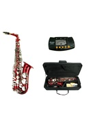 E Flat Red / Gold Alto Saxophone with Case + Free Metro Tuner - $279.99