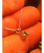 ESTATE Inexpensive Petite Natural Emerald Penda... - $59.00