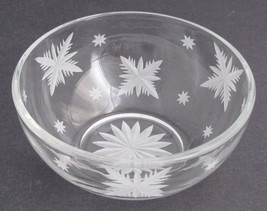 Hand cut glass bowl, frosted snowflake Can be customized - $17.60