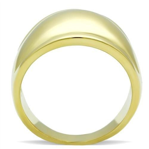 GOLD TONE RING - Smooth Surface Modern Dome Style Ring - SIZE 8, 10