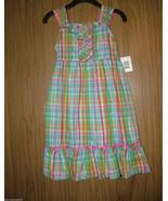 Basic Edition Girl Stripped, Sleeveless, Plaid Sun Dress, Sz.Small 4/5(U... - $12.86
