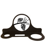 Wrought Iron Mountable Hair Dryer Rack Pinecone Bathroom Home Decor Cadd... - $25.99