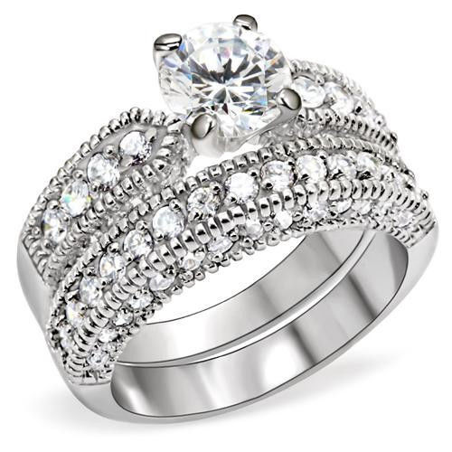 Primary image for 1.25 Carat. Clear Round CZ Bridal, Wedding Ring Sets , Size  5, 10