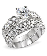 1.25 Carat. Clear Round CZ Bridal, Wedding Ring Sets , Size  5, 10 - $33.99