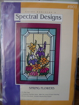 """Pattern Spring Flowers Quilt, Wall Hanging OOP 30""""x41"""" - $5.99"""