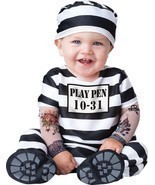 TIME OUT INFANT TODDLER COSTUME Prisoner Jail Theme Adorable Halloween F... - £20.56 GBP