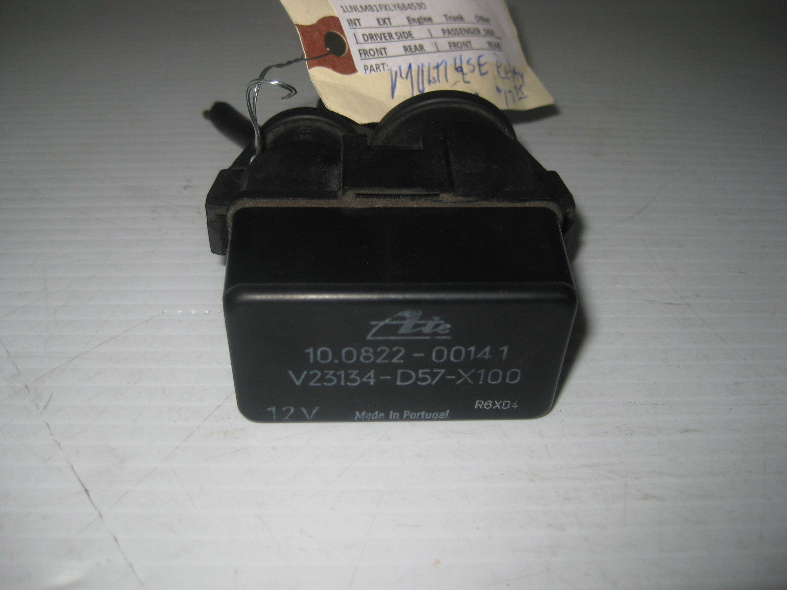 Lincoln Town Car 1990 Multi Use Relay OEM V23134-D57-X100