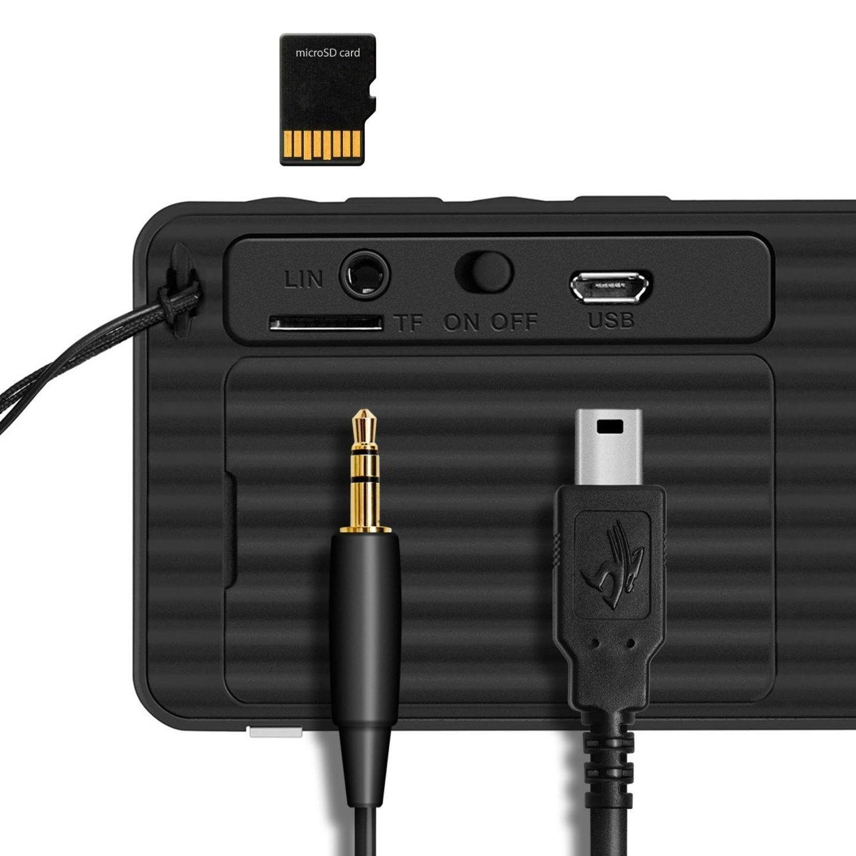 bluetooth recharge speaker sport boom boom sound box mic fm radio black new audio docks mini. Black Bedroom Furniture Sets. Home Design Ideas