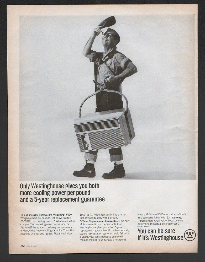 Vintage 1965 Westinghouse Air Cpnditioner Ad Advertisment Ice Man - $4.95