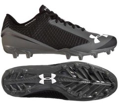 Under Armour 1249792 Nitro Icon Low Men Black Grey Clutch Fit Football Cleats 15 - $31.99