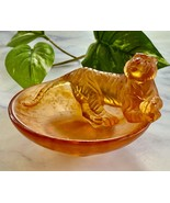 NEW Daum Tiger Horoscope Coupelle Dish Pate de Verre French Crystal Reta... - $295.02