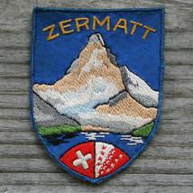 Early Vintage ZERMATT Ski Patch SWITZERLAND Matterhorn Souvenir Travel B... - $29.65