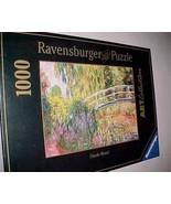 Ravensburger Claude Monet Japanese Bridge 1000 Piece Jigsaw Puzzle 2003 New - $98.01